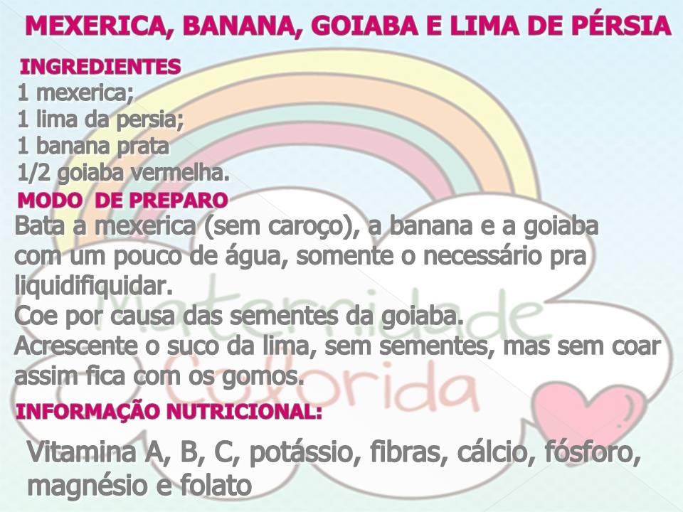 papa de fruta introdução alimentar receita