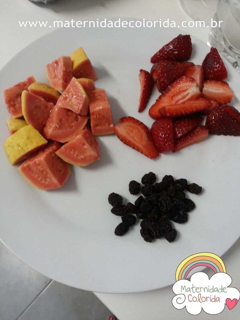 papa de frutas introdução alimentar receita