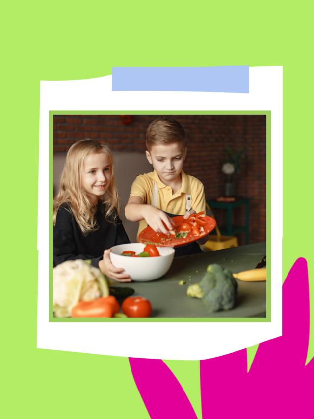 Dicas para as crianças comerem saladas